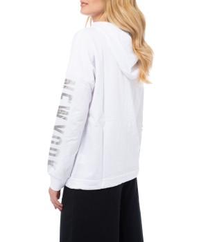 Logo Side Band  Light Sweatshirt Hoodie - Off White