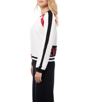 Printed Cotton  Jersey  Sweatshirt - Off White/Black/Red (special edition)