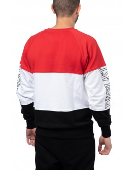 Tricolor  Cotton Sweater - Red/Black/White (special edition)
