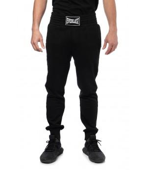 Sweatpant  Oversized Band Logo Tag Panel - Black