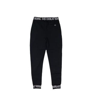 Boxing Logo Printed Cotton Sweatpants  - Black