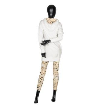 Set Sweatshirt Hoodie & Leggings - White/Pearl