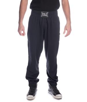 Logo Panel  Sweatpants -Blue Black