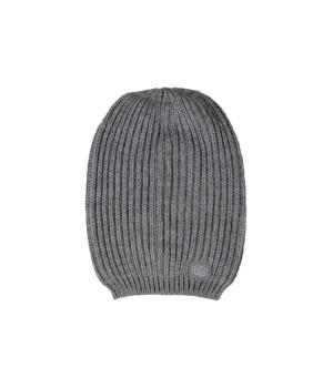 Logo Tag  Beanie Hat - Grey Mel