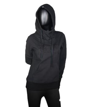 Logo Embroidered Hooded Sweatshirt - Black
