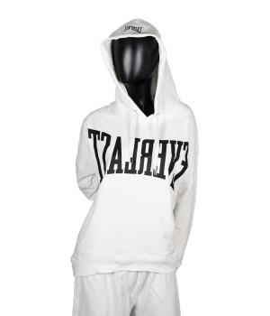Logo Printed  Jersey  Sweatshirt Hoodie - White