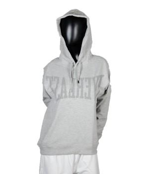 Logo Printed  Jersey Sweatshirt Hoodie - Grey