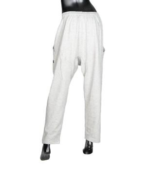 Low Crotch  Loose Jersey Sweatpants - Grey