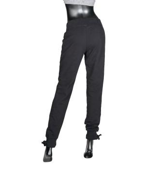 Logo Panel  Jersey Sweatpants - Black