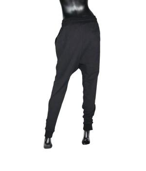 Low Crotch  Jersey Sweatpants - Black