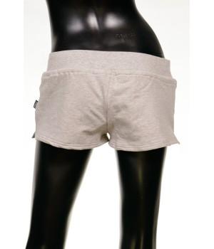Print Logo Jersey Sweat Shorts - Grey Mel