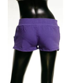 Print Logo Jersey Sweat Shorts - Purple