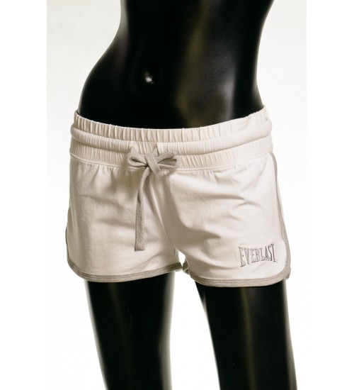 High Band Sweat Shorts - White