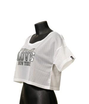 Love NY  Print  Cropped T-Shirt - White