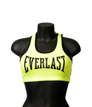 Logo Oversized Stretch  Bra Top Fit - Yellow Lime